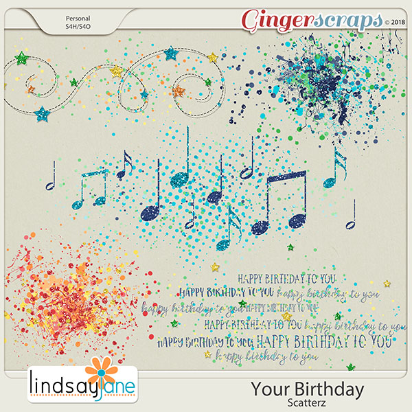 Your Birthday Scatterz by Lindsay Jane