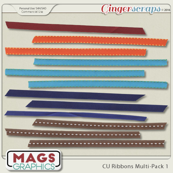 CU PNG Ribbons Multi-Pack 1 by MagsGraphics
