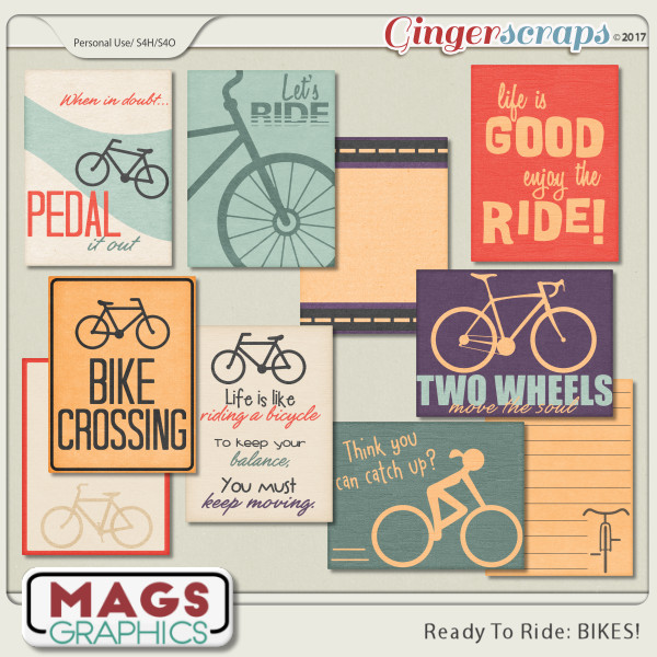 Ready To Ride Bikes JOURNAL CARDS by MagsGraphics