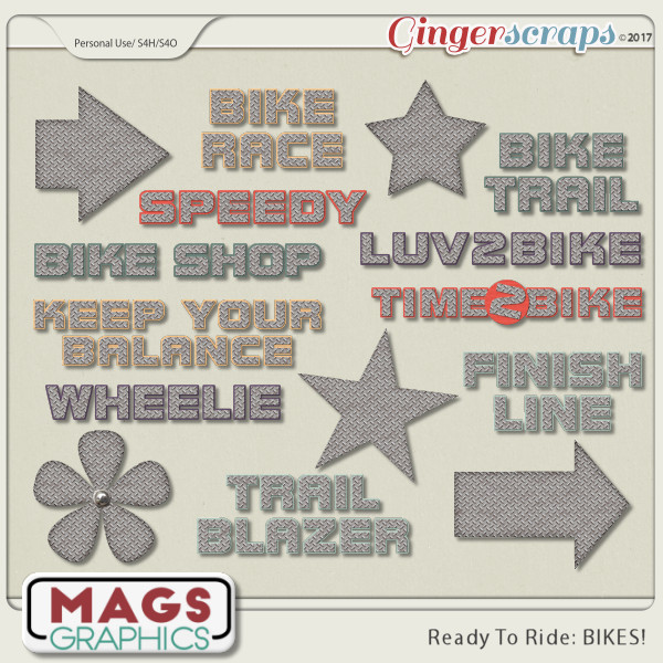 Ready To Ride Bikes METAL PACK by MagsGraphics