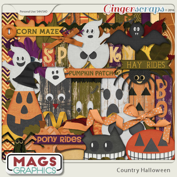 Country Halloween Kit by MagsGraphics