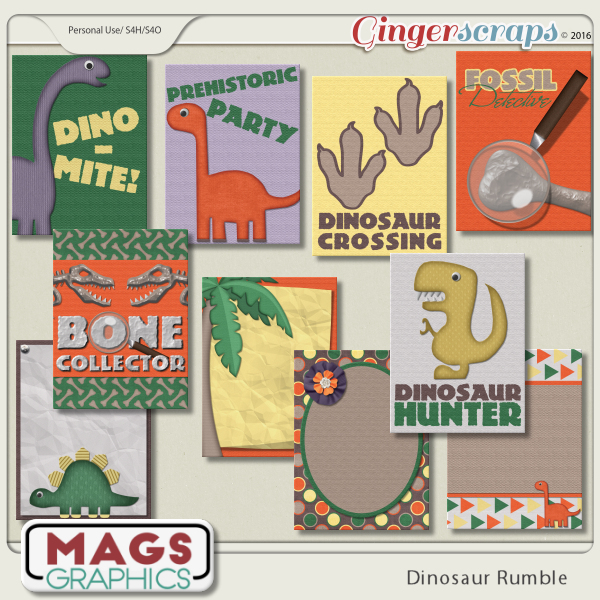 Dinosaur Rumble JOURNAL CARDS
