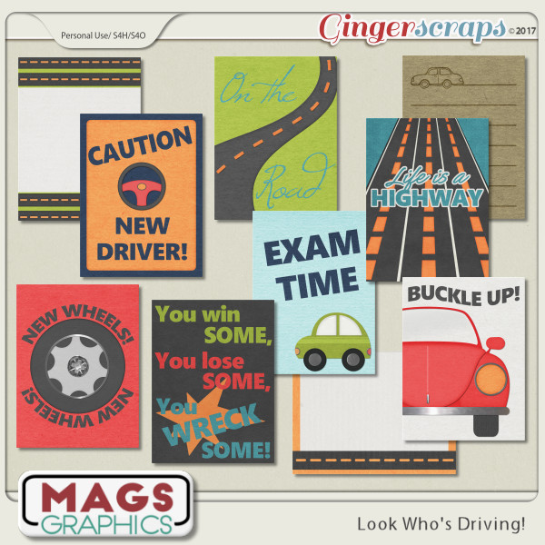 Look Who's Driving JOURNAL CARDS by MagsGraphics