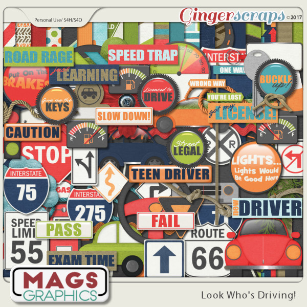 Look Who's Driving 100-PC KIT by MagsGraphics