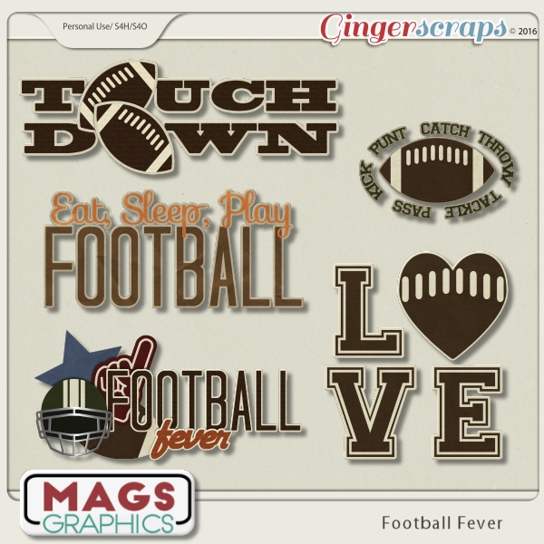 Football Fever WORD ART