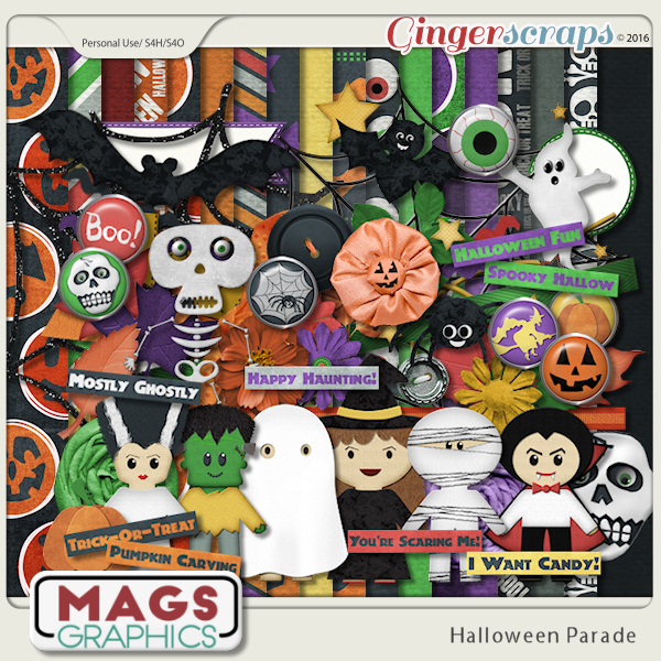 Halloween Parade KIT by MagsGraphics  |   Dress up your little ghoulies and ghosties and join in the HALLOWEEN PARADE!