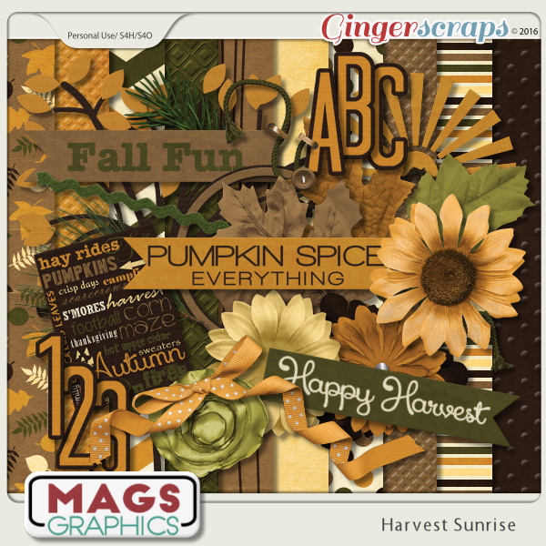 Harvest Sunrise KIT by MagsGraphics