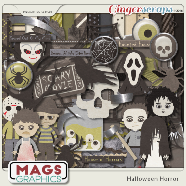 Halloween Horror KIT by MagsGraphics