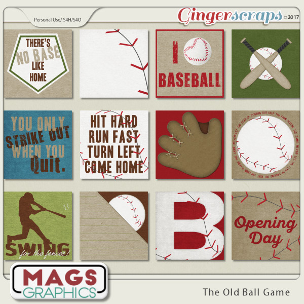 Old Ball Game JOURNAL CARDS by MagsGraphics