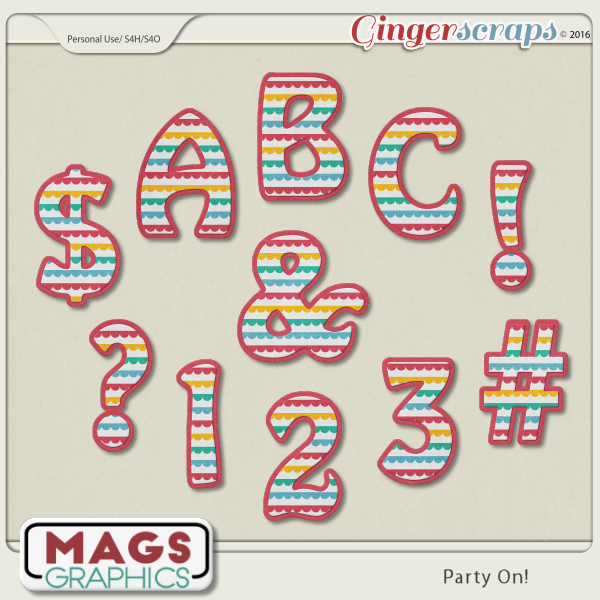 Party On ALPHA by MagsGraphics