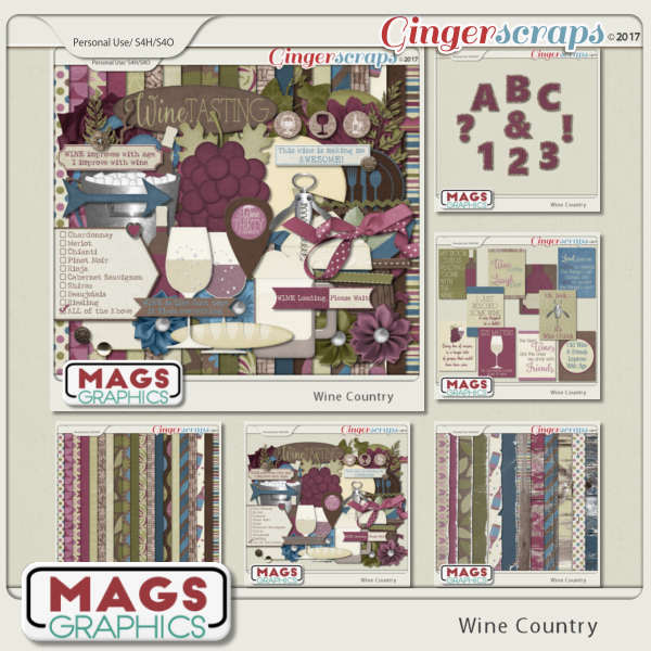 Wine Country BUNDLE + FREE CLUSTERS by MagsGraphics