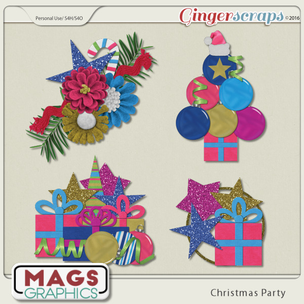 Christmas Party CLUSTERS by MagsGraphics