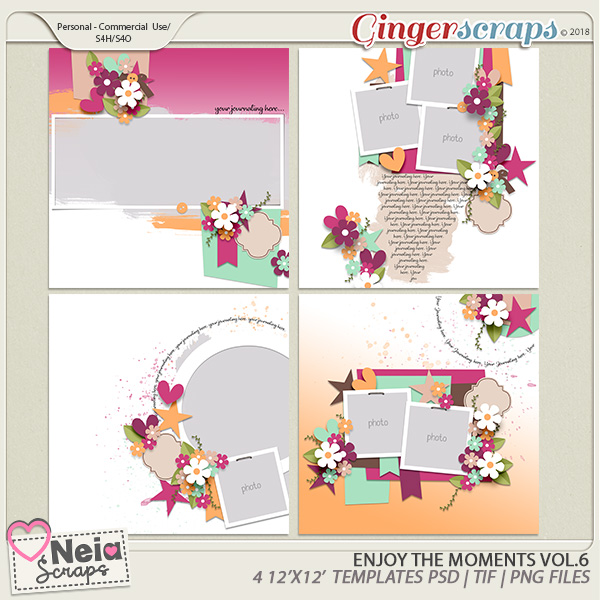 Enjoy The Moments - Templates VOL.6 - By Neia Scraps