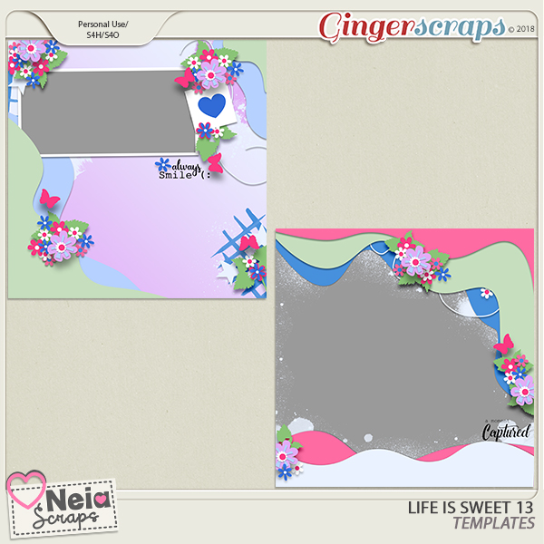 Life is Sweet 13 - Templates - By Neia Scraps