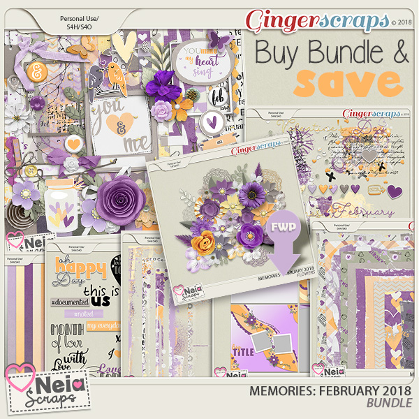 Memories: February 2018 - Bundle- by Neia Scraps