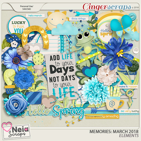 Memories: March 2018 - Elements- by Neia Scraps