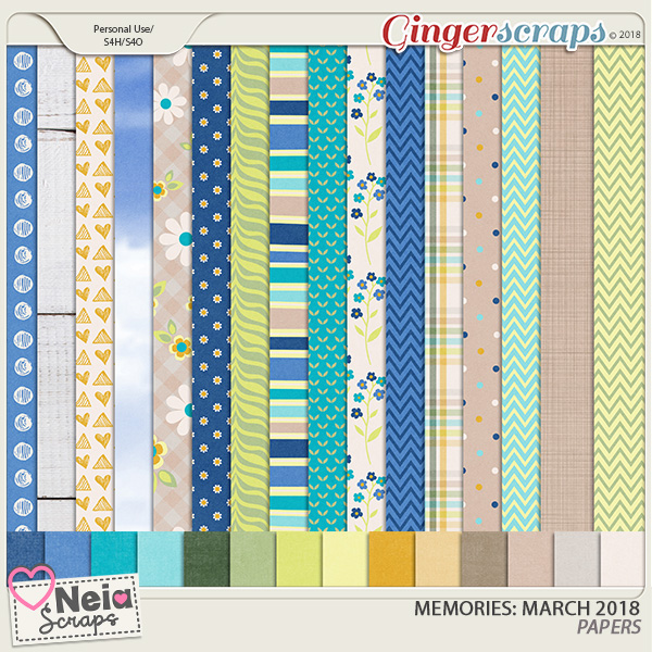 Memories: March 2018 - Papers- by Neia Scraps