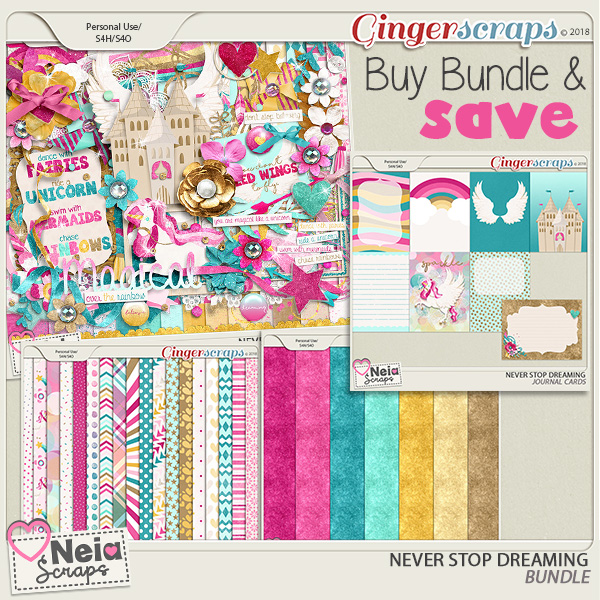 Never Stop Dreaming- Bundle - by Neia Scraps