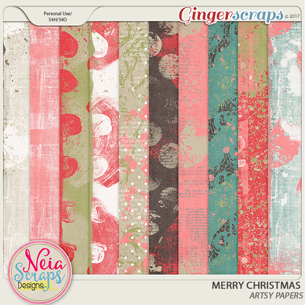 Merry Christmas - Artsy Papers - by Neia Scraps