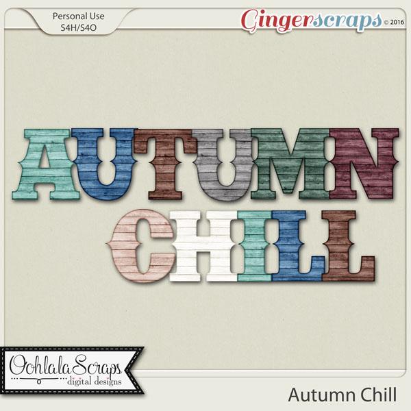 Autumn Chill Alphabets