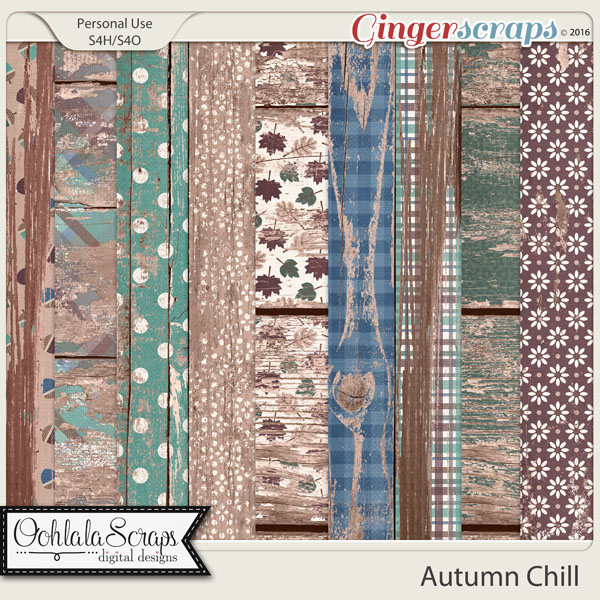 Autumn Chill Worn Wood Papers
