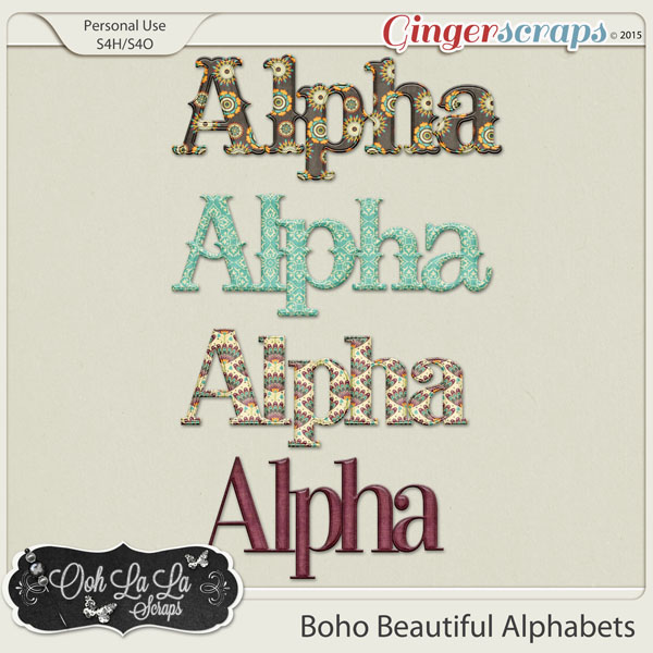 Boho Beautiful Alphabets