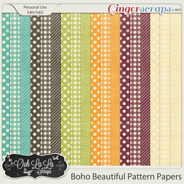 Boho Beautiful Pattern Papers