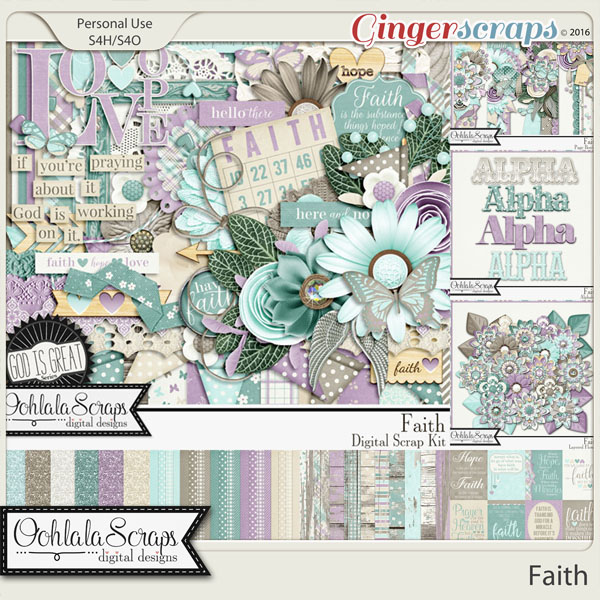 Faith Digital Scrapbooking Collection