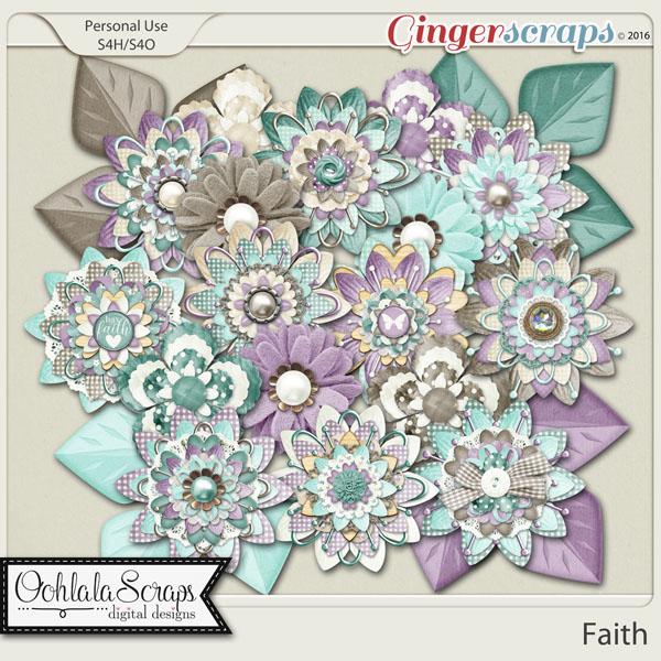 Faith Layered Flowers