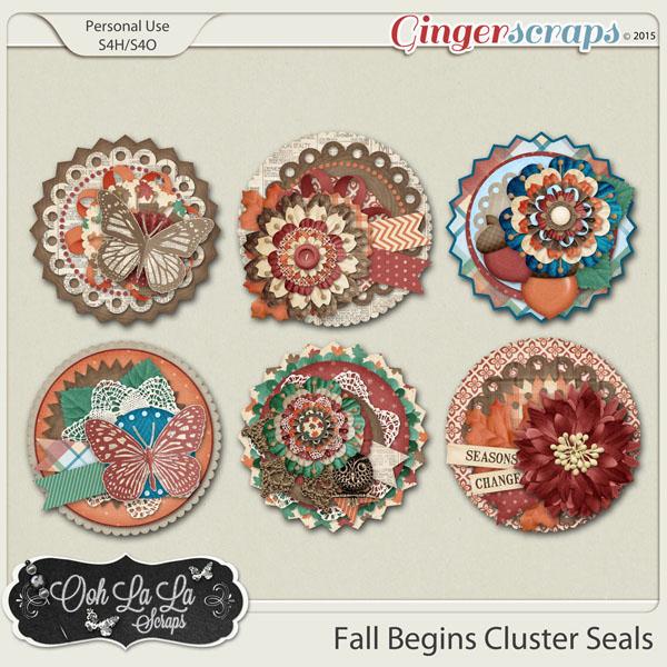 Fall Begins Cluster Seals