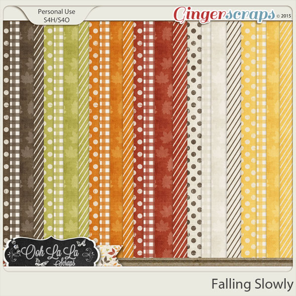 Falling Slowly Pattern Papers