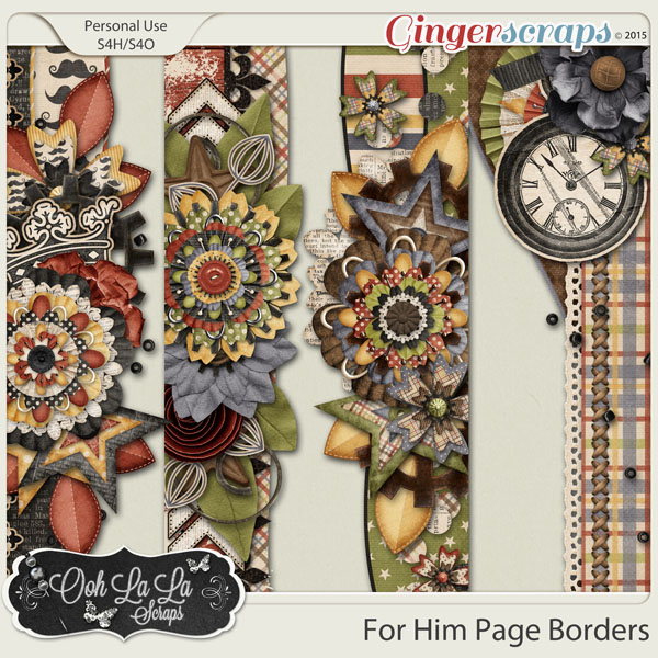 For Him Page Borders