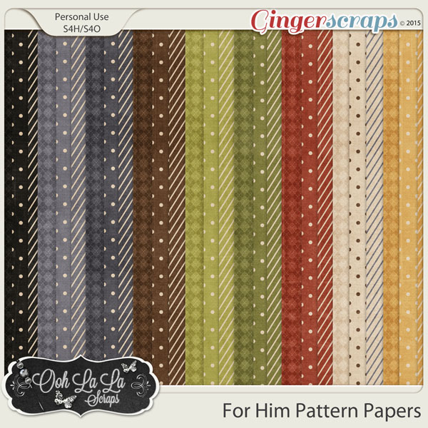 For Him Pattern Papers