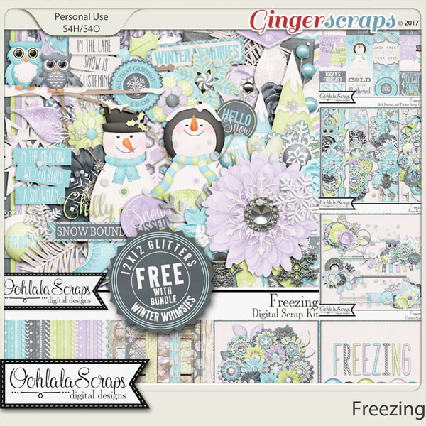 Freezing Digital Scrapbook Bundle