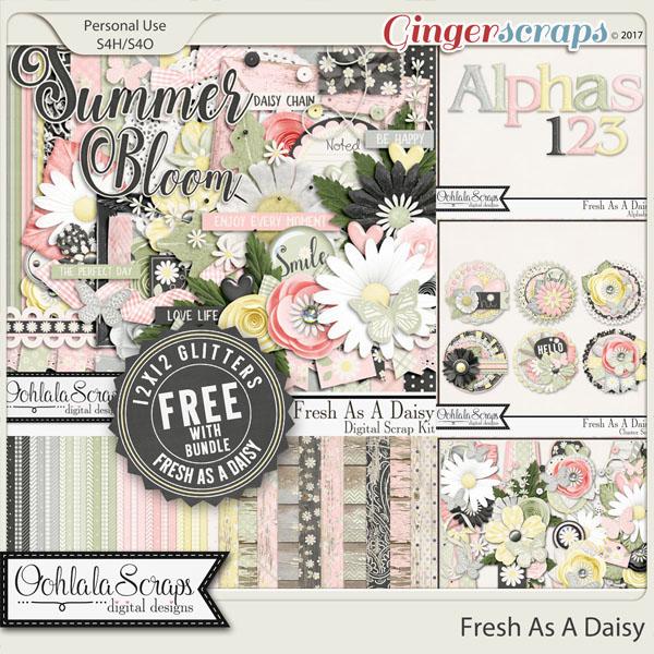 Fresh As A Daisy Digital Scrapbook Bundle