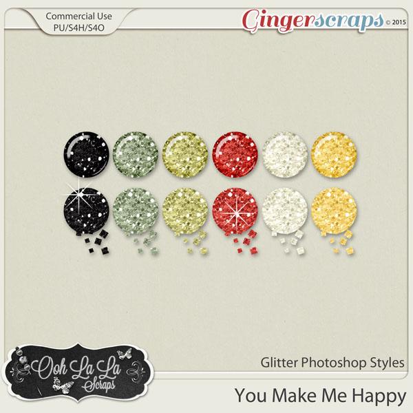 You Make Me Happy Glitter Photoshop Styles