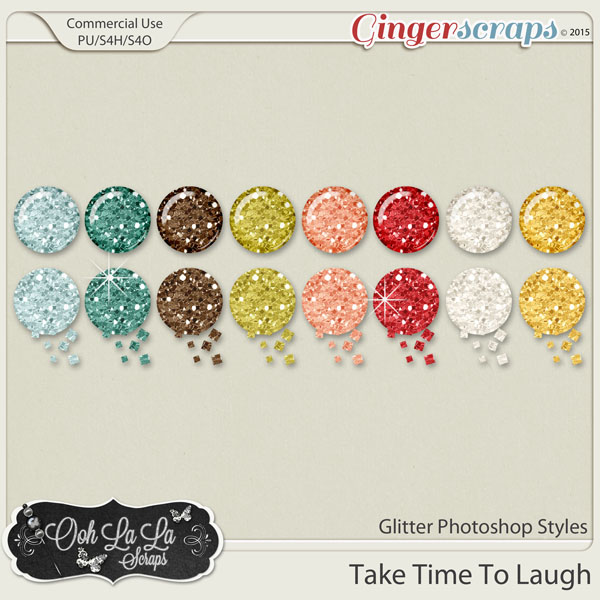 Take Time To Laugh Glitter Photoshop Styles