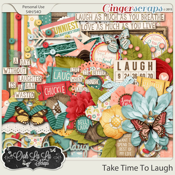 Take Time To Laugh Digital Scrapbooking Kit