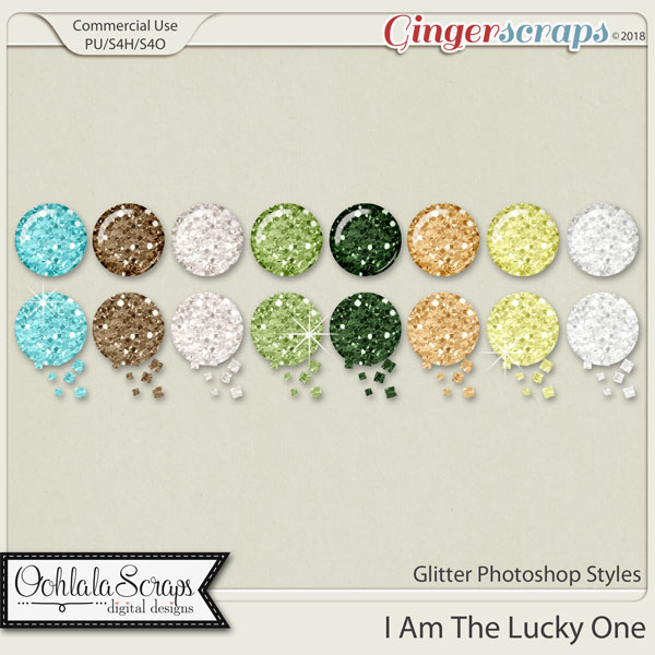 I Am The Lucky One CU Glitter Photoshop Styles