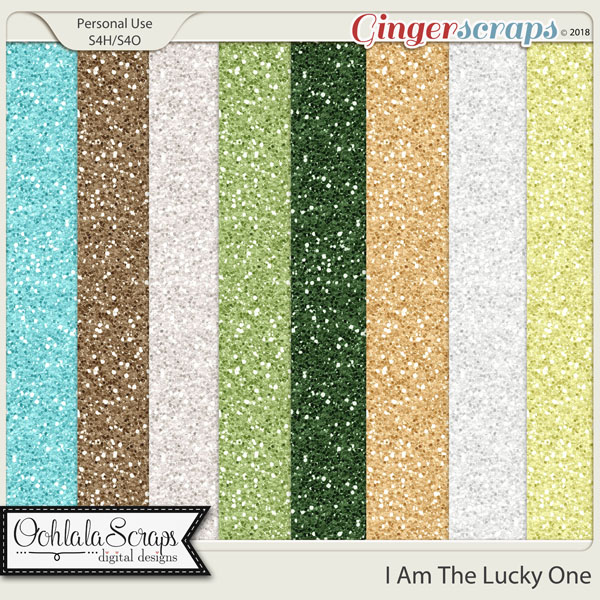 I Am The Lucky One 12x12 Glitter Paper