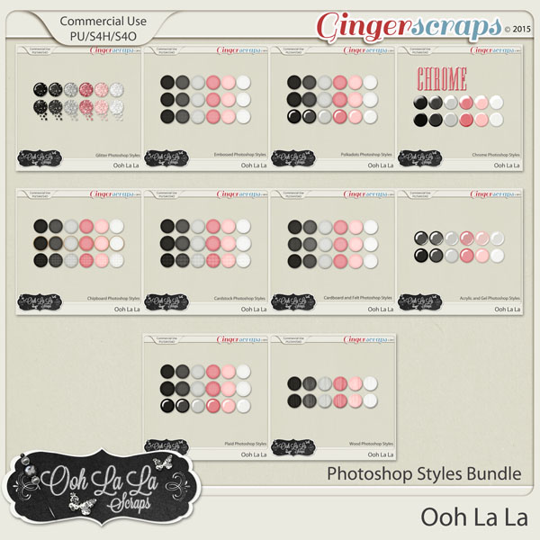 Ooh La La Photoshop Styles Bundle
