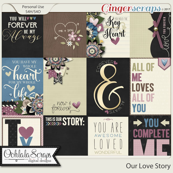 Our Love Story Pocket and Journal Scrap Cards