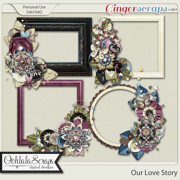 Our Love Story Cluster Frames