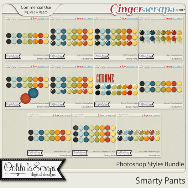 Smarty Pants CU Photoshop Styles Bundle
