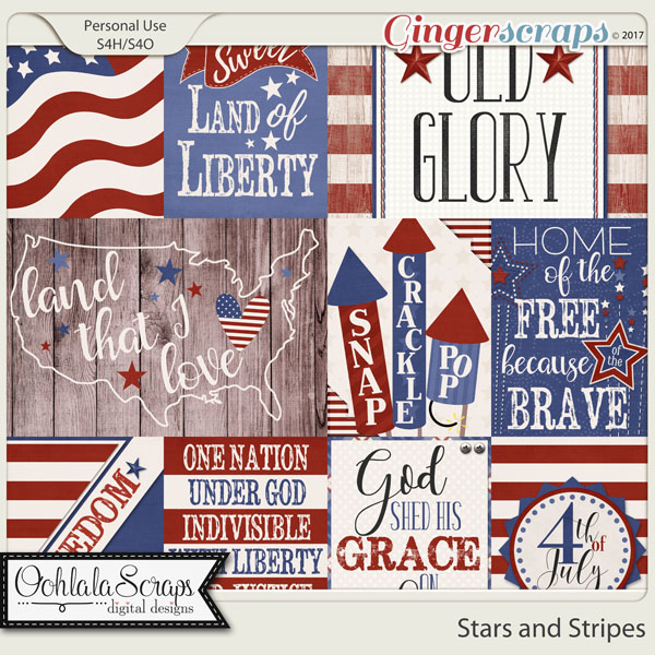 Stars and Stripes Pocket Scrapbook Cards