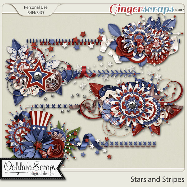 Stars and Stripes Cluster Stitches