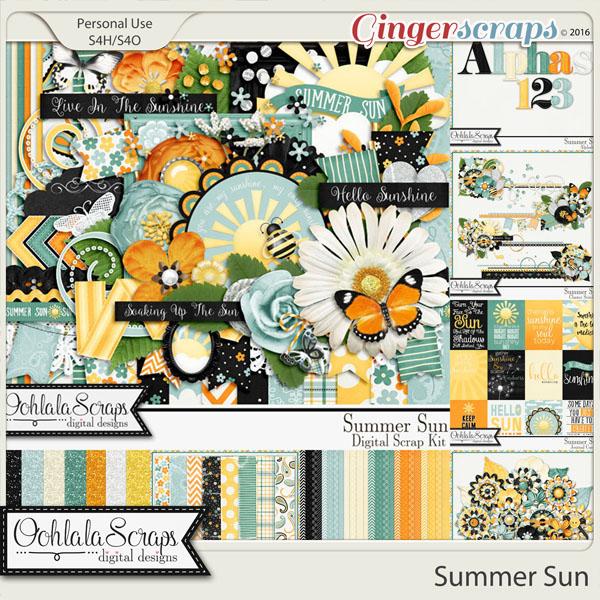 Summer Sun Digital Scrapbooking Collection