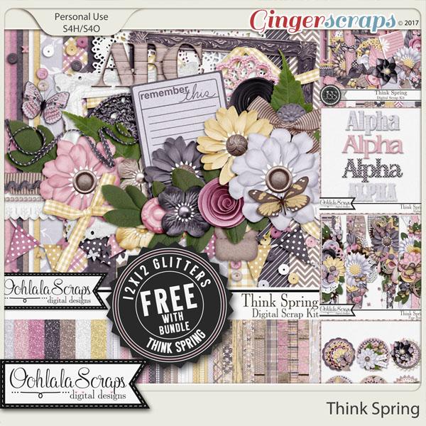 Think Spring Digital Scrapbook Bundle