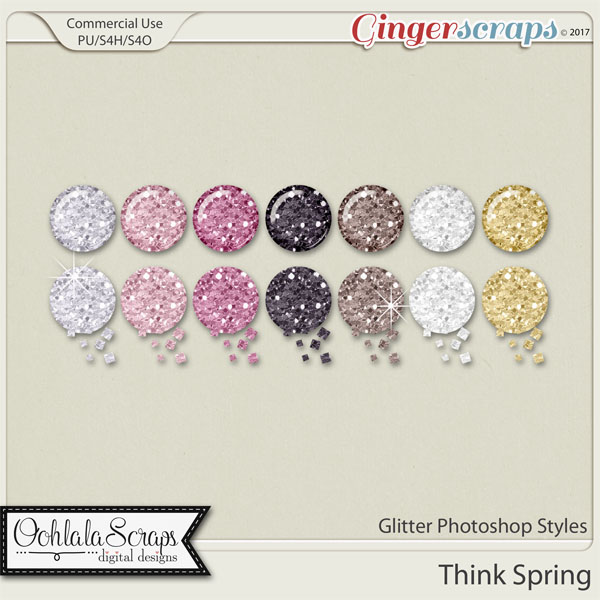 Think Spring CU Glitter Photoshop Styles