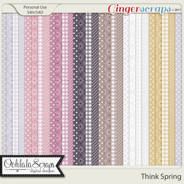 Think Spring Pattern Papers